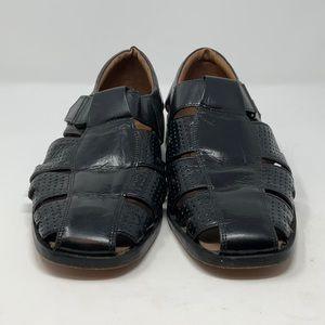 Stacy Adams Black Woven Leather  Men's Sandal – 10